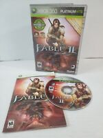 Fable II -- Platinum Hits (Microsoft Xbox 360, 2009) Complete TESTED