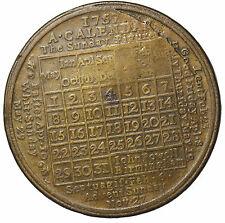 1757 Calendar Medal By John Powell Birmingham England