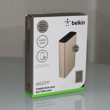 Belkin MIXITUP Power Pack 6600mAh Battery Pack Power Bank Gold Micro USB Cable
