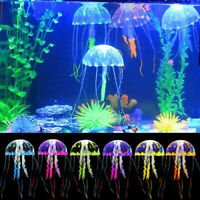 6PC Jellyfish Aquarium Decor Artificial Glowing Effect Fish Tank Ornament DIY