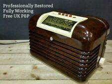 RESTORED Bush DAC10 Vintage Bakelite Valve Radio 1950s Art Deco Modernist DAC90A