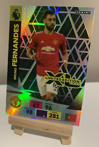 Adrenalyn XL Panini 20/21 Bruno Fernandes Limited Edition Manchester United