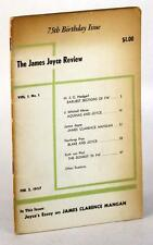 1957 THE JAMES JOYCE REVIEW 75TH BIRTHDAY ISSUE VOL 1 NO 1 EDMUND EPSTEIN