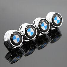 4PCS For BMW All Model Car Emblem License Plate Frame Screw Bolts Cap Cover