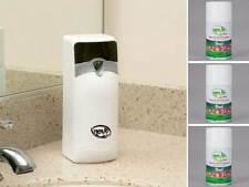 Novo Metered Restroom Aerosol Air Freshener System with 3 Floral Scent Cans
