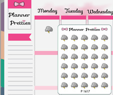 P1617 Kawaii Stormy Weather Trackers Planner Stickers