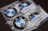 Alloy Wheel Centre Cap Insignia w/- BMW Sticker x 4 Genuine BMW 36136758569 70mm