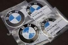 BMW E30 4x Genuine 70mm Emblem for Cross Spokes Alloy Cover Adhesive