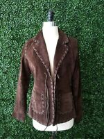 For Joseph Designs Braided Gypsy Fringe Suede Leather Jacket S Spell Coachella