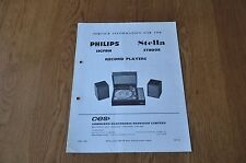 Philips 13GF818 Stella ST8008  Record Players Workshop Service Manual