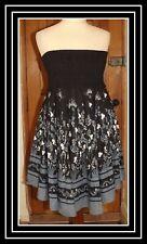 Voyelles, Black Beaded Bandeau Dress, Size M, NWT