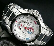 RARE NOS SEIKO VELATURA SPC005P1 Yachting Timer Bracelet Steel Watch 7T84 Chrono