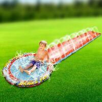 Kids Aqua Water Slide Sprinkler Spray Soak Splash Garden Pool Toy Summer Fun