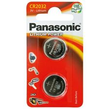 Pack of 2 Panasonic CR2032 3V Lithium Coin Cell Battery 2032 UK Seller