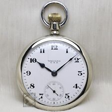 "1917 Waltham ""Traveler"" Mechanical Pocket Watch Large 16s Antique USA 7 Jewels"