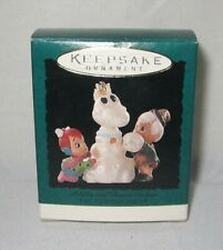 1995 Hallmark Miniature Flintstones Ornament ~ Pebbles and Bamm Bamm