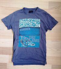 TRUSSARDI Luxus T-shirt mit Logo Print! 100% PIMA COTTON! Vintage Style Größe L