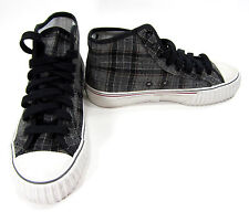 PF Flyers Shoes Center Reissue Hi Grey/Plaid Sneakers Mens 4.5 Womens 6