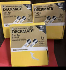 """3 Boxes (5lb EACH BOX) 15 Lbs  Of DeckMate (3 Boxes) 9g X 2"""""""