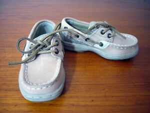 Sperry Top-Sider Toddler Baby Boy Boat Shoes Size 6.5 Tan Leather EC No box