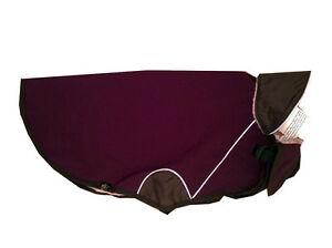 Gold Paw Series Cascade Winter Dog Pet Coat Gray or Purple (Eggplant)