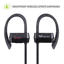 Écouteurs noirs avec contrôle du volume bluetooth sans fil sports