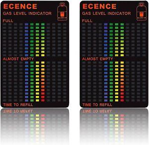 ECENCE 2X Magnétique Bouteille Gaz Propane Butane Indicateur de Niveau Jauge...
