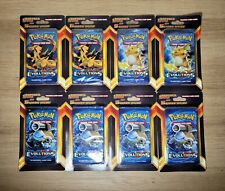 XY Evolutions Blister Pack +5 Additonal Cards, Lot Of 8