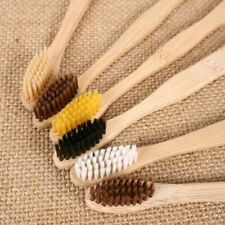 10PCS Bamboo Toothbrush Wooden Teeth Brush Wooden Hand Remove Stain Disposable