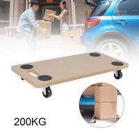 Wood side Transport Roller Dolly Trolley 200kg Furniture Removal Platform Wheels
