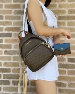 Michael Kors Erin Small Convertible Backpack Fannypack Crossbody MK Leather
