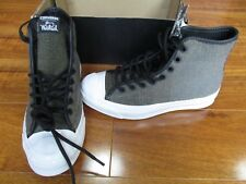 NEW Converse Woolrich Jack Purcell Sign Hi Top Shoes Mens 3.5 Jute/Dolphin $125.