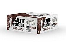 Health Warrior Superfood Protein Bar Dark Chocolate Coconut Sea Salt 12 Bars NEW