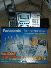 Panasonic Kx-Tg2740S 2 Line Cordless Phone & Answering Machine Base
