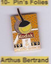Pin's Folies ** Roland  Garros TENNIS Kodak 1989 email grand feu
