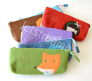 Cartoon Animal Coin Cosmetic Pencil  Phone Card Holder Pouch Wallet Key Bag