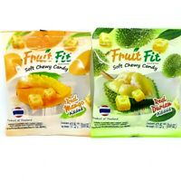 Fruit Fit Thai Soft Chewy Candy Durian and Mango Flavor Real Added Gummy Snack