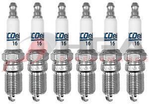 Genuine GM ACDelco RAPIDFIRE Platinum Spark Plugs #16 Set Of 6