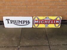 Triumph & Michelin Metal Signs Ideal Garage Man Cave