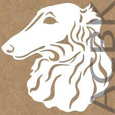 Borzoi dog vinyl decal, dog sticker, outdoor premium vinyl, car window, wall