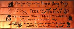 PERSONALISED HALLOWEEN BANNERS - PERFECT FOR PARTIES,TRICK OR TREAT