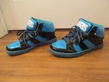 Used Worn Size 10 Osiris Convoy Mid Skateboard Shoes Blue Black White