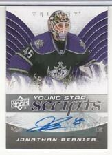 JONATHAN BERNIER 2008-09 UPPER DECK TRILOGY YOUNG STAR SCRIPTS AUTOGRAPH MINT