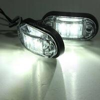 2x LED Front Car Side Marker Light Lamp Truck Van Trailer Indicators 12V 24V