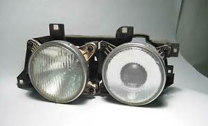 BMW E34 5-Series Left Factory Headlight Lamp Hella 1988-1995 E32 USED OEM