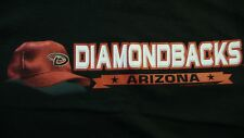 Arizona Diamondbacks T-Shirt XXL NEW MLB Authentics 100% Cotton Black FREE SHIP