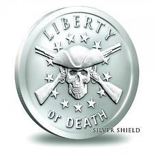 2014 Silver Shield Liberty or Death 1 oz .999 Silver BU Round USA Bullion Coin