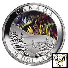 2004 Northern Lights $20 Hologram .9999 Fine Silver (Natural Wonders) (10802)