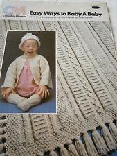 Vintage 1977 Columbia Minerva Easy Ways to Baby A Baby Pattern Book Afghan Socks