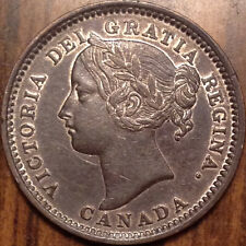 1901 CANADA SILVER 10 CENTS DIME BEST OF CIRCULATED CONDITION